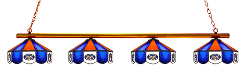Auburn Tigers Stained Glass 4-Light Pool Table Light - Gameroom Goodies Pool Table Lights