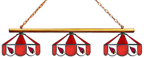 Arizona Cardinals NFL Stained Glass 3 Shade Pool Table Light - Gameroom Goodies Pool Table Lights