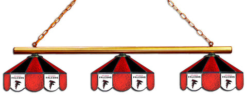 Atlanta Falcons NFL Stained Glass 3 Shade Pool Table Light - Gameroom Goodies Pool Table Lights