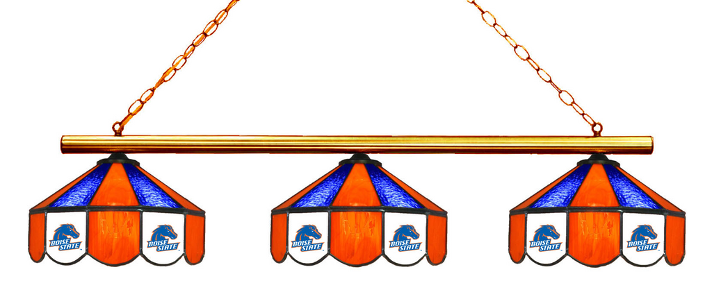 Boise State Broncos Stained Glass 3-Light Game Table Light - Gameroom Goodies Pool Table Lights