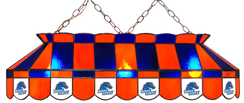 Boise State Broncos Stained Glass Pool Table Light - Gameroom Goodies Pool Table Lights