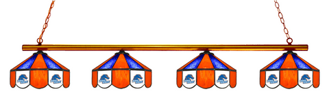 Boise State Broncos Stained Glass 4-Light Pool Table Light - Gameroom Goodies Pool Table Lights