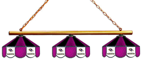 Baltimore Ravens NFL Stained Glass 3 Shade Pool Table Light - Gameroom Goodies Pool Table Lights