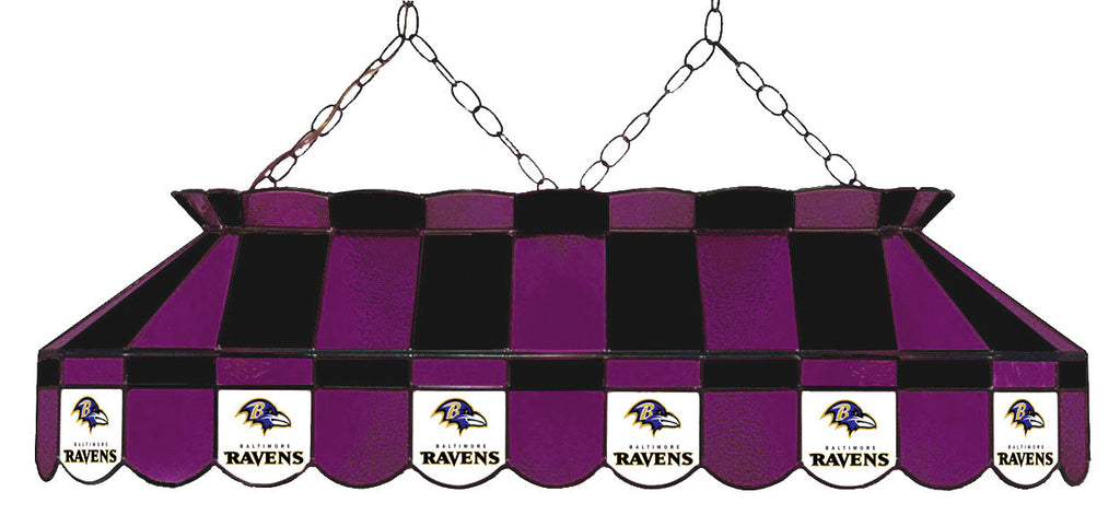 Baltimore Ravens NFL Stained Glass Pool Table Light - Gameroom Goodies Pool Table Lights