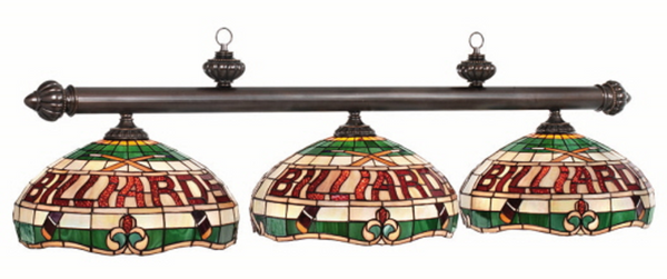 Billiards Tiffany Stained Glass Pool Table Light - Gameroom Goodies Pool Table Lights