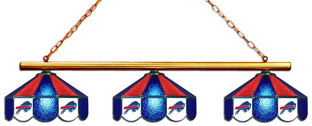 Buffalo Bills NFL Stained Glass 3 Shade Pool Table Light - Gameroom Goodies Pool Table Lights