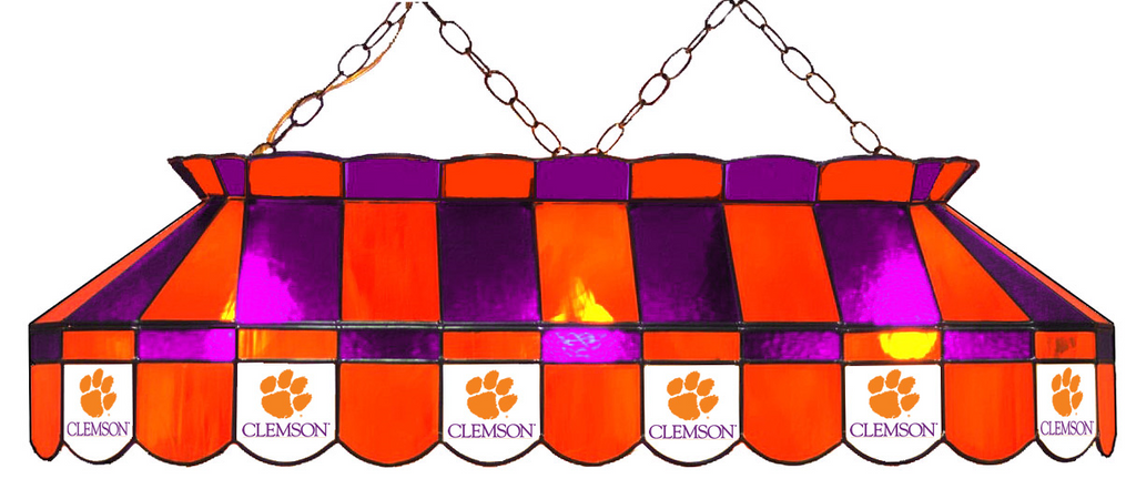 South Carolina Clemson Tigers Stained Glass Pool Table Light - Gameroom Goodies Pool Table Lights