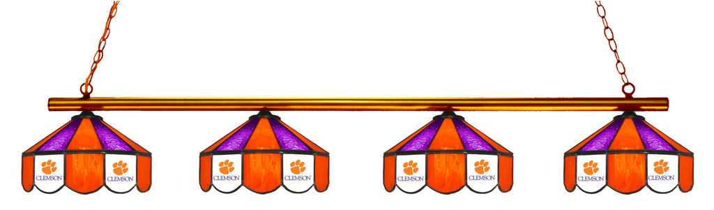 South Carolina Clemson Tigers Stained Glass 4-Light Pool Table Light - Gameroom Goodies Pool Table Lights