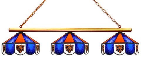 Chicago Bears NFL Stained Glass 3 Shade Pool Table Light - Gameroom Goodies Pool Table Lights
