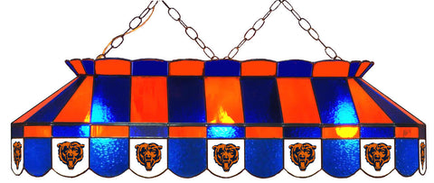 Chicago Bears NFL Stained Glass Pool Table Light - Gameroom Goodies Pool Table Lights