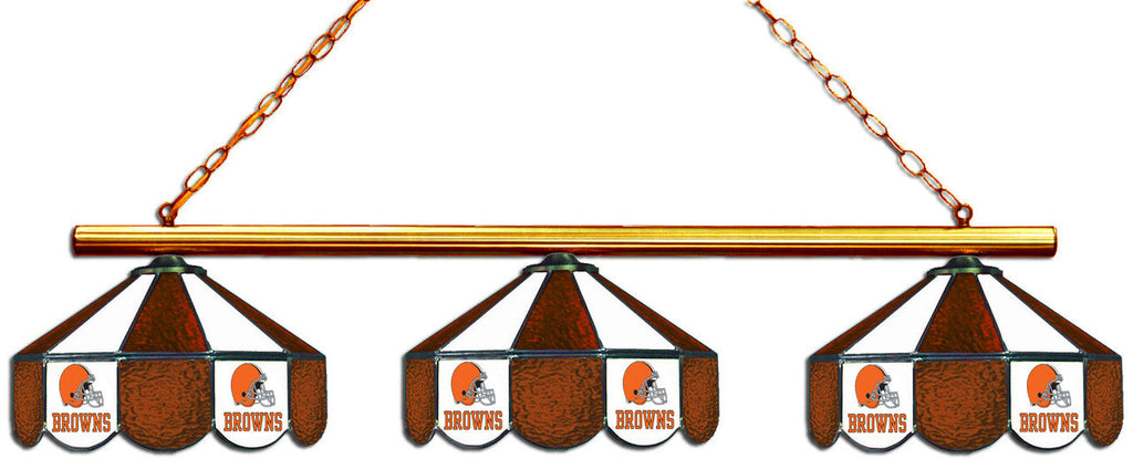 Cleveland Browns NFL Stained Glass 3 Shade Pool Table Light - Gameroom Goodies Pool Table Lights