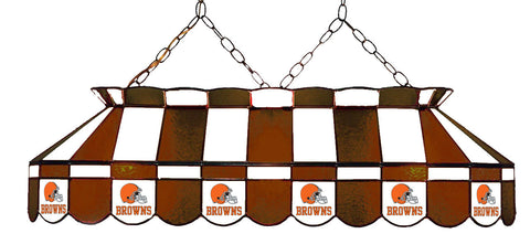 Cleveland Browns NFL Stained Glass Pool Table Light - Gameroom Goodies Pool Table Lights