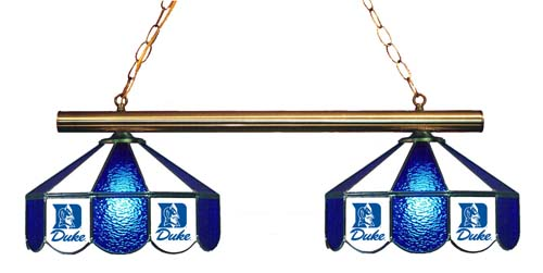North Carolina Duke Blue Devils Stained Glass 2-Light Game Table Light - Gameroom Goodies Pool Table Lights