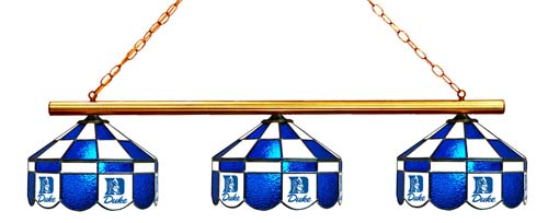 North Carolina Duke Blue Devils Stained Glass 3-Light Executive Game Table Light - Gameroom Goodies Pool Table Lights