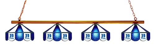 North Carolina Duke Blue Devils Stained Glass 4-Light Pool Table Light - Gameroom Goodies Pool Table Lights