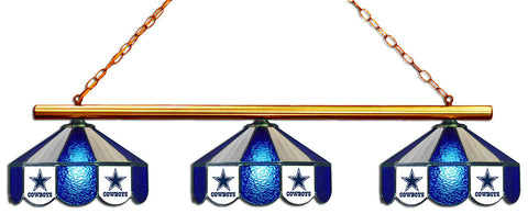 Dallas Cowboys NFL Stained Glass 3 Shade Pool Table Light - Gameroom Goodies Pool Table Lights