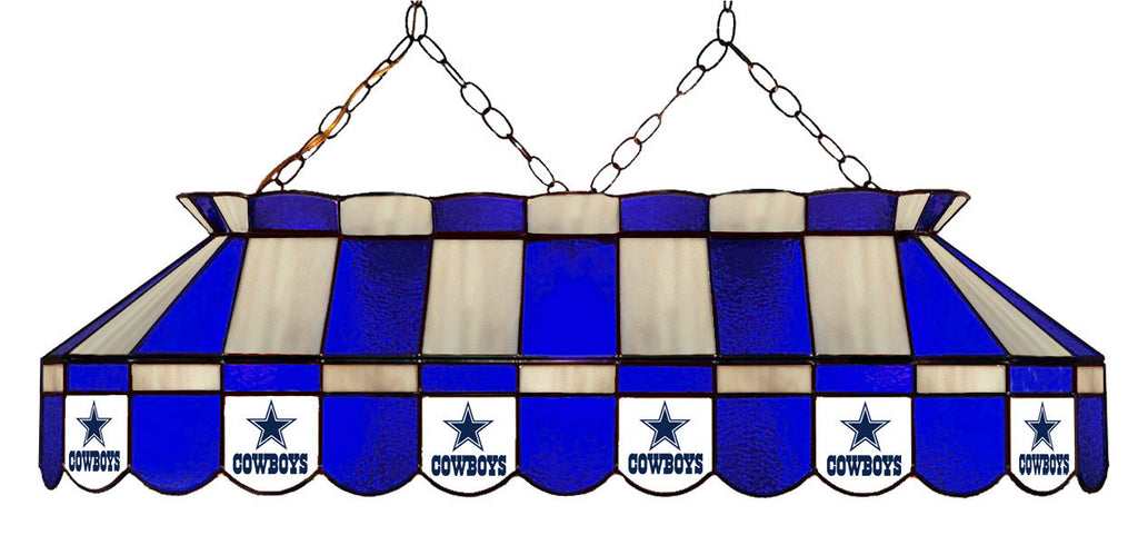 Dallas Cowboys NFL Stained Glass Pool Table Light - Gameroom Goodies Pool Table Lights