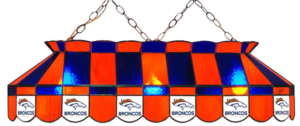 Denver Broncos NFL Stained Glass Pool Table Light - Gameroom Goodies Pool Table Lights