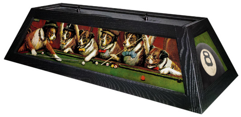 Dogs Playing Pool Billiard Light - Gameroom Goodies Pool Table Lights