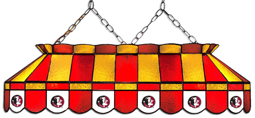 Florida State Seminoles Stained Glass Pool Table Light - Gameroom Goodies Pool Table Lights