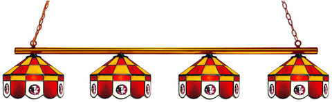 Florida State Seminoles Stained Glass 4-Light Executive Pool Table Light - Gameroom Goodies Pool Table Lights