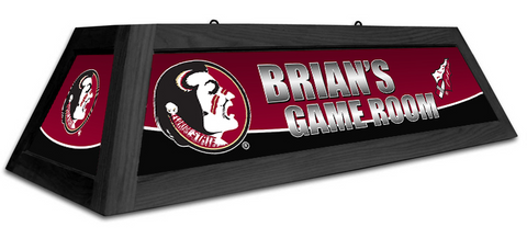 Florida State Seminoles Custom Pool Table Light - Gameroom Goodies Pool Table Lights