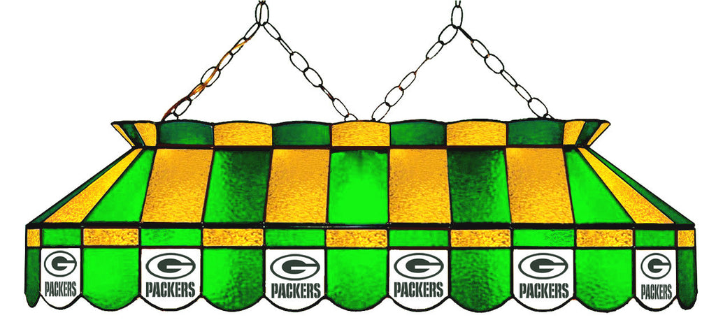 Green Bay Packers NFL Stained Glass Pool Table Light - Gameroom Goodies Pool Table Lights