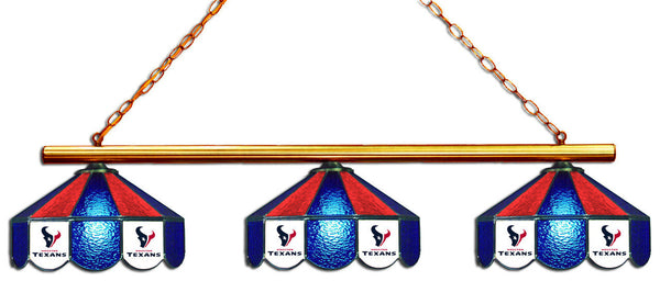 Houston Texans NFL Stained Glass 3 Shade Pool Table Light - Gameroom Goodies Pool Table Lights