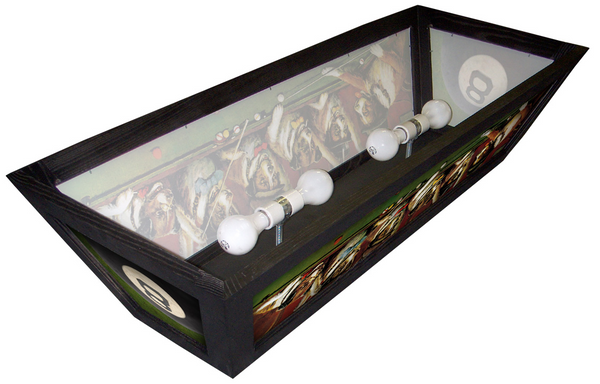 Rack EM Up Pool Table Light - -Hood Style-Bourbon Street Light Works - 6