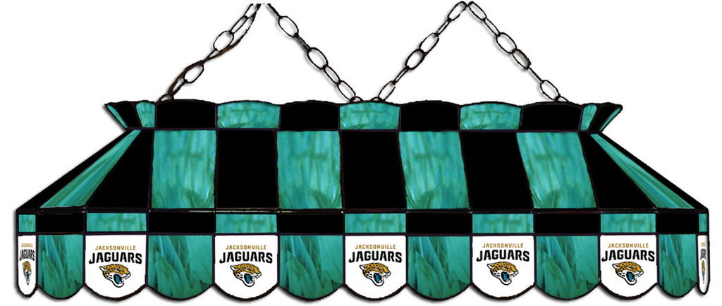 Jacksonville Jaguars NFL Stained Glass Pool Table Light - Gameroom Goodies Pool Table Lights