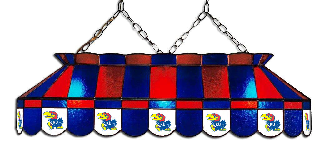 Kansas Jayhawks Stained Glass Pool Table Light - Gameroom Goodies Pool Table Lights
