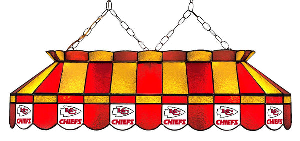 Kansas City Chiefs NFL Stained Glass Pool Table Light - Gameroom Goodies Pool Table Lights