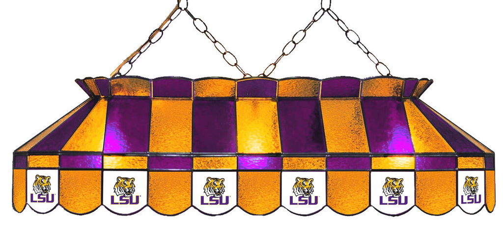 LSU Tigers Stained Glass Pool Table Light - Gameroom Goodies Pool Table Lights