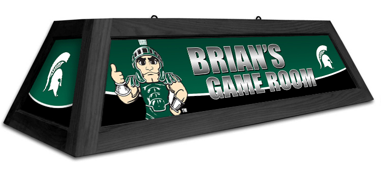 Michigan State Spartans Custom Pool Table Light - Gameroom Goodies Pool Table Lights