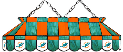 Miami Dolphins NFL Stained Glass Pool Table Light - Gameroom Goodies Pool Table Lights