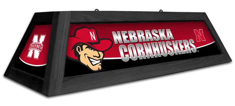 Nebraska Cornhuskers Spirit Pool Table Light - Gameroom Goodies Pool Table Lights