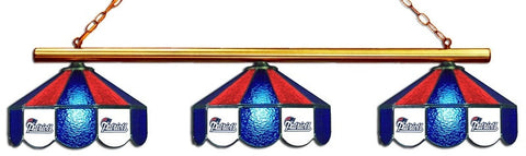 New England Patriots NFL Stained Glass 3 Shade Pool Table Light - Gameroom Goodies Pool Table Lights