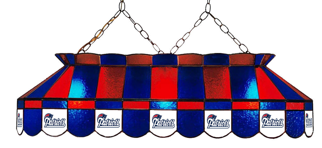 New England Patriots NFL Stained Glass Pool Table Light - Gameroom Goodies Pool Table Lights