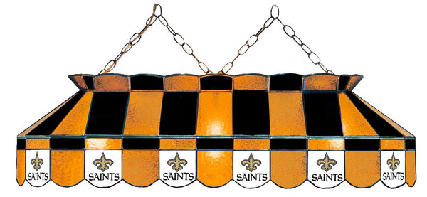 New Orleans Saints NFL Stained Glass Pool Table Light - Gameroom Goodies Pool Table Lights