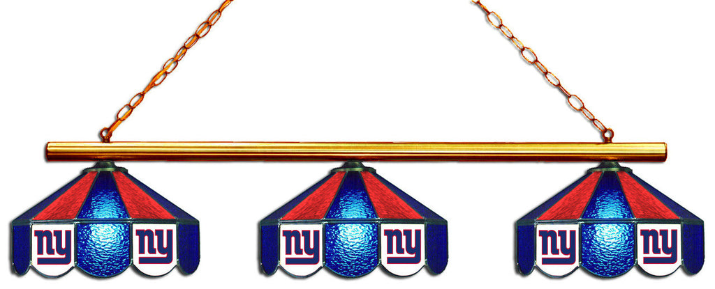 New York Giants NFL Stained Glass 3 Shade Pool Table Light - Gameroom Goodies Pool Table Lights