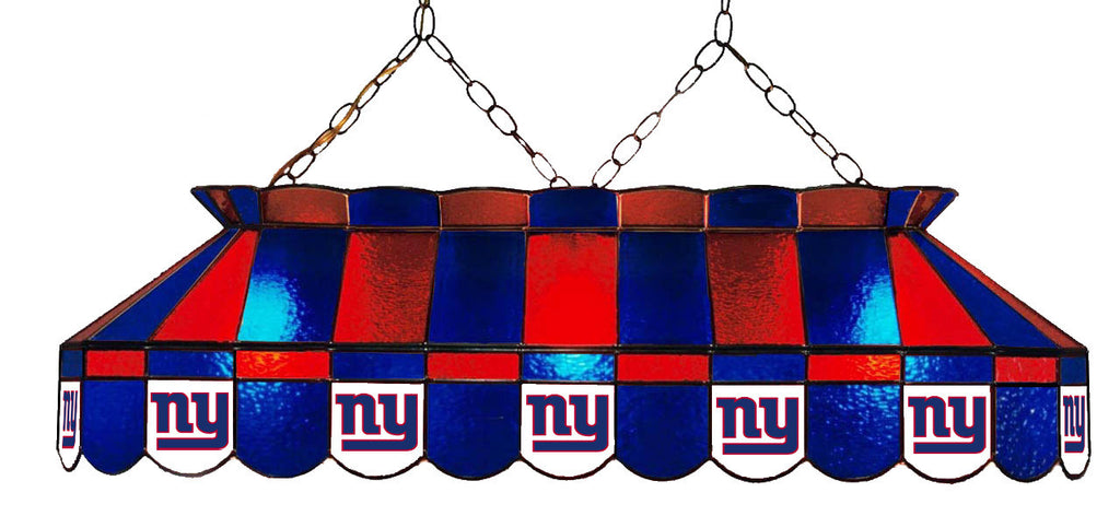 New York Giants NFL Stained Glass Pool Table Light - Gameroom Goodies Pool Table Lights