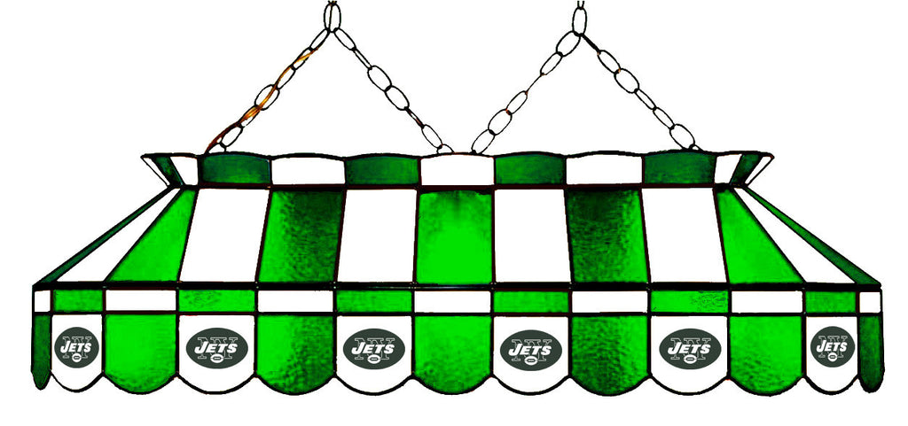 New York Jets NFL Stained Glass Pool Table Light - Gameroom Goodies Pool Table Lights