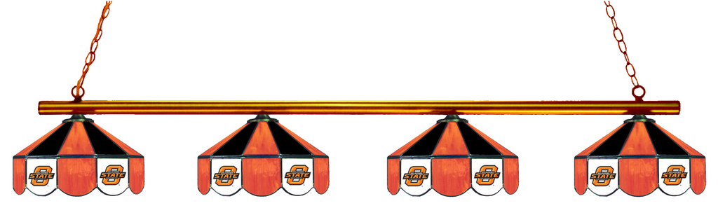 Oklahoma State Cowboys Stained Glass 4-Light Pool Table Light - Gameroom Goodies Pool Table Lights