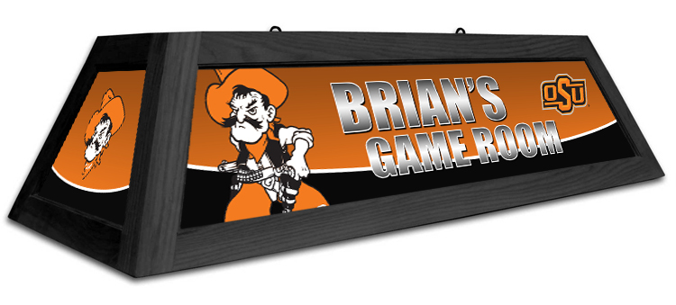 Oklahoma State Cowboys Custom Pool Table Light - Gameroom Goodies Pool Table Lights