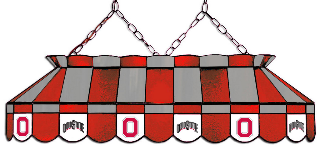 Ohio State Buckeyes Stained Glass Pool Table Light - Gameroom Goodies Pool Table Lights