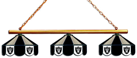 Oakland Raiders NFL Stained Glass 3 Shade Pool Table Light   Gameroom  Goodies Pool Table Lights