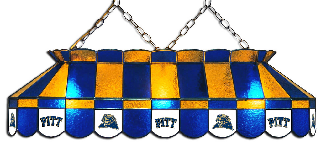 Pittsburgh Panthers Stained Glass Pool Table Light - Gameroom Goodies Pool Table Lights