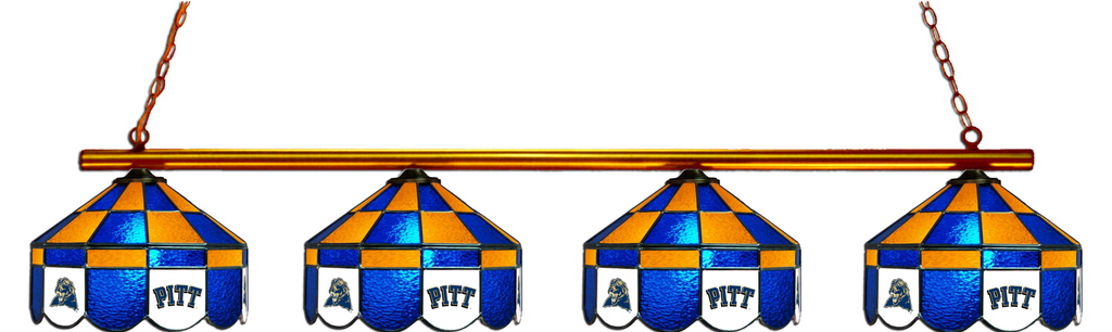 Pittsburgh Panthers Stained Glass 4-Light Executive Pool Table Light - Gameroom Goodies Pool Table Lights