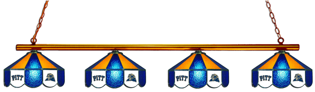 Pittsburgh Panthers Stained Glass 4-Light Pool Table Light - Gameroom Goodies Pool Table Lights