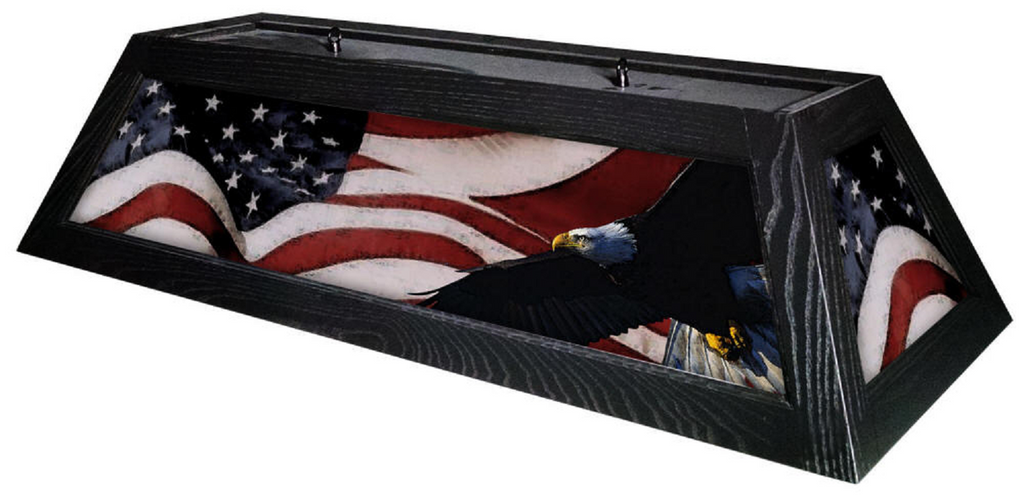 Patriot American Flag Pool Table Light - Gameroom Goodies Pool Table Lights